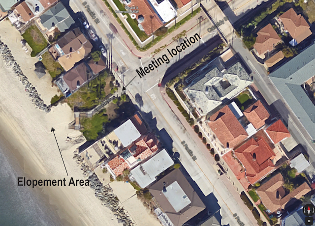 Elope To Oceanside™ - Cassidy Street Location | Map Image : Google Maps